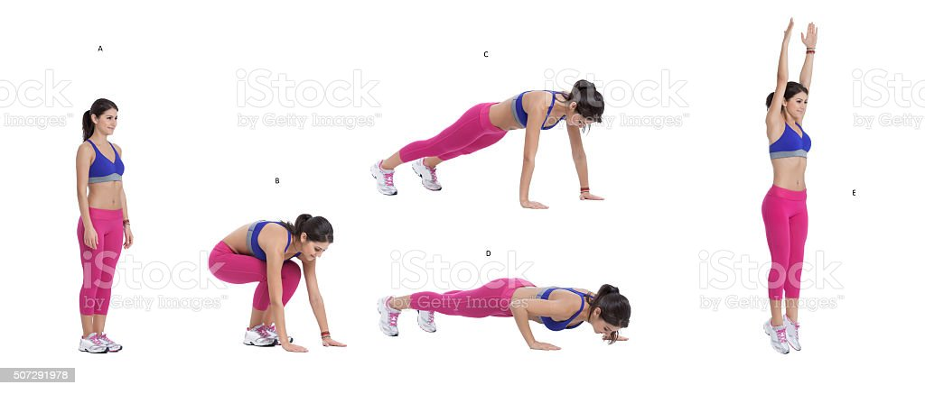 Burpees stock photo