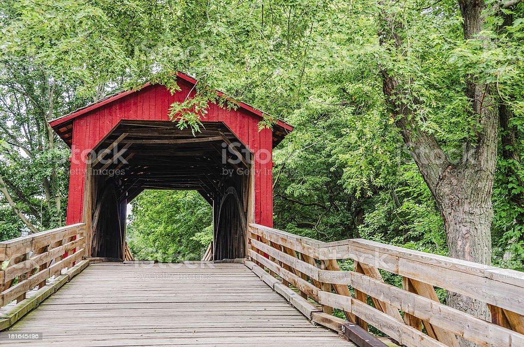 Burr Arch Covered Bridge royalty-free stock photo