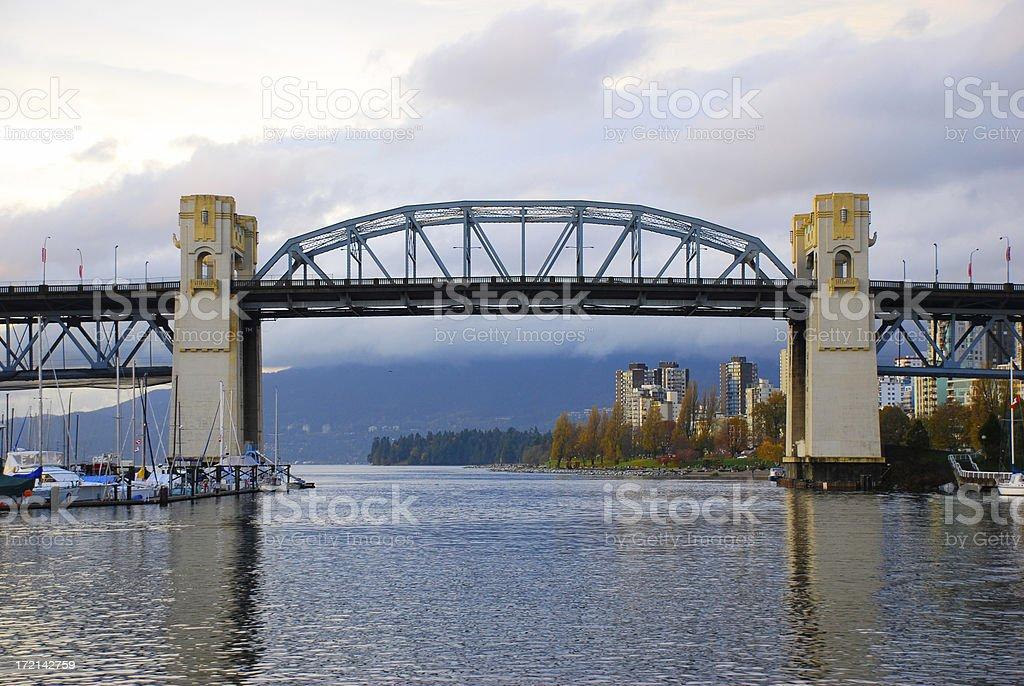 Burrard Bridge Autumn royalty-free stock photo