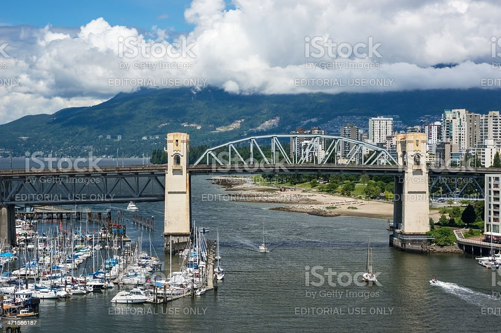 Burrard Bridge royalty-free stock photo