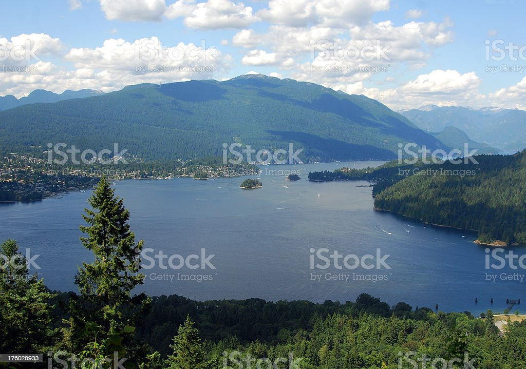 Burrard Inlet and Indian Arm stock photo