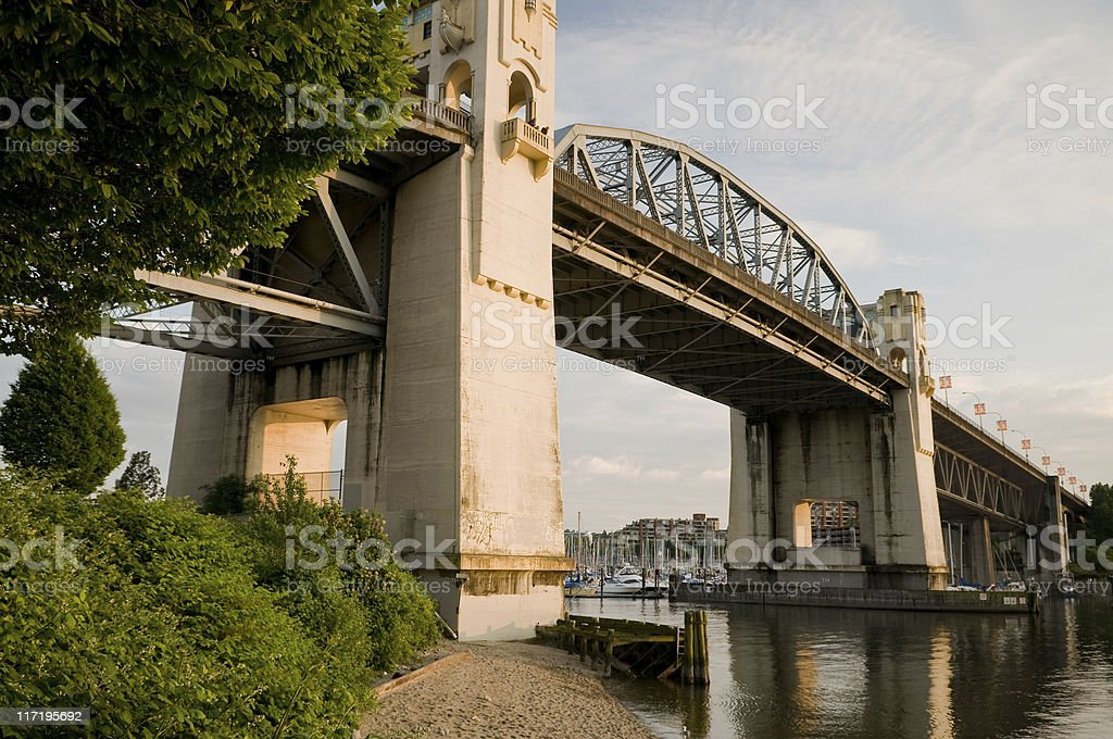 Burrard Street Bridge royalty-free stock photo