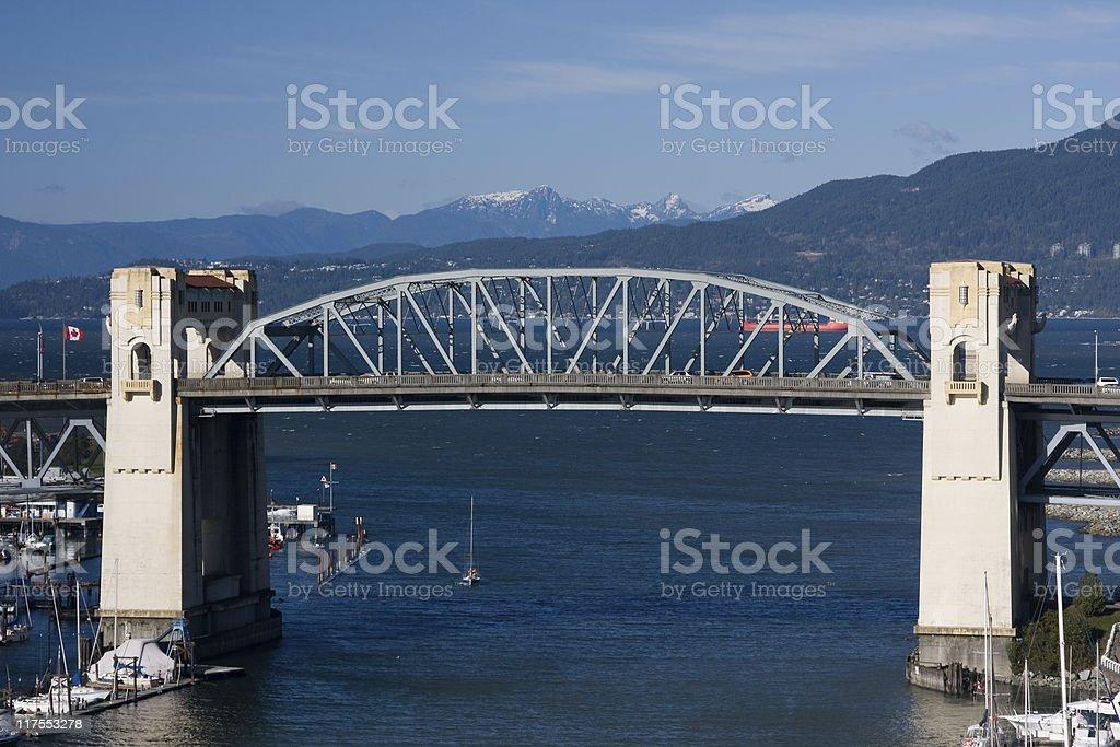 Burrard Street Bridge, Vancouver royalty-free stock photo