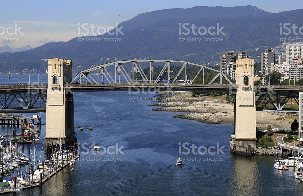 Burrard Street Bridge Vancouver royalty-free stock photo