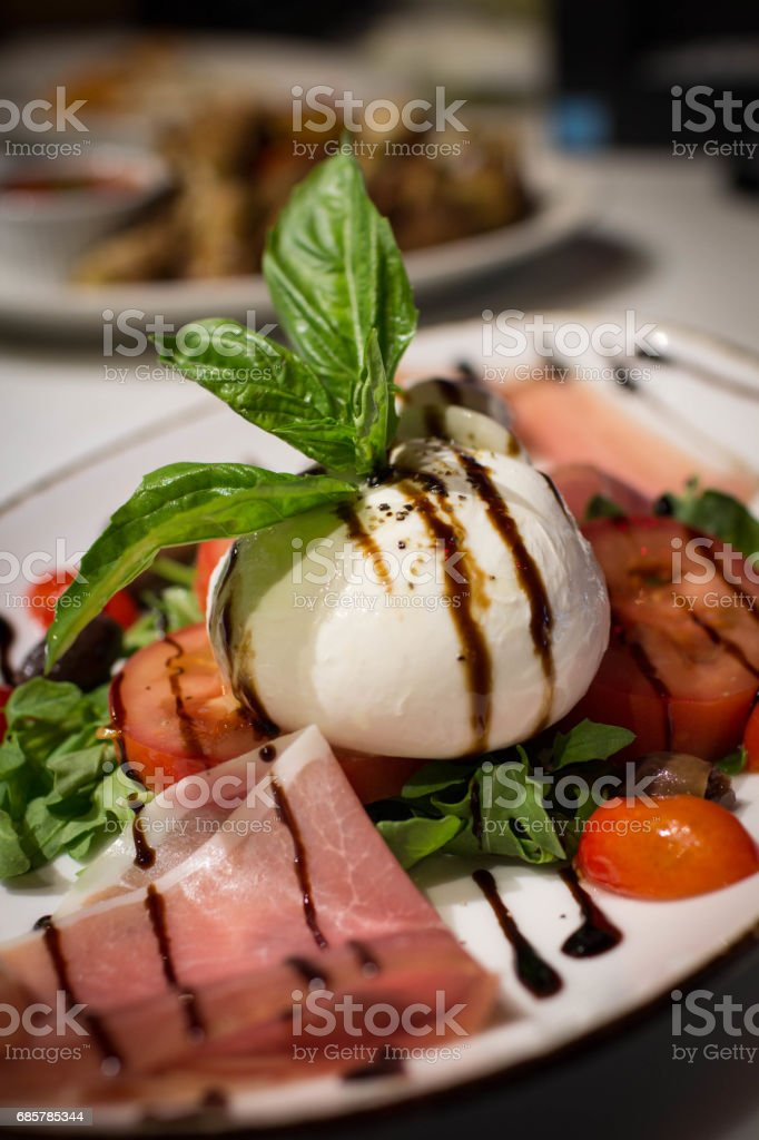 Burrata Caprese royalty-free stock photo