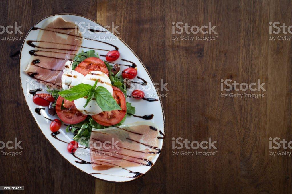 Burrata Caprese royalty-free stock photo