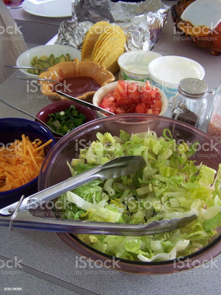 Burrito fixings stock photo