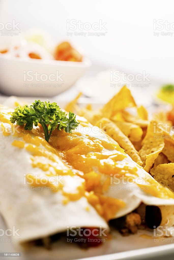 Burrito Meal royalty-free stock photo