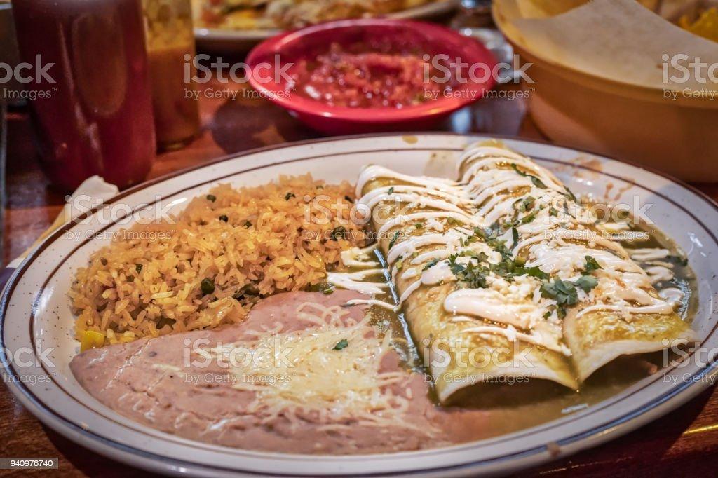 Burritos Verdes stock photo