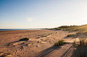 Burry Port Beach lies at the mouth of the Loughor Estuary a few miles from Llanelli and close to Swansea in Carmarthenshire in South Wales.