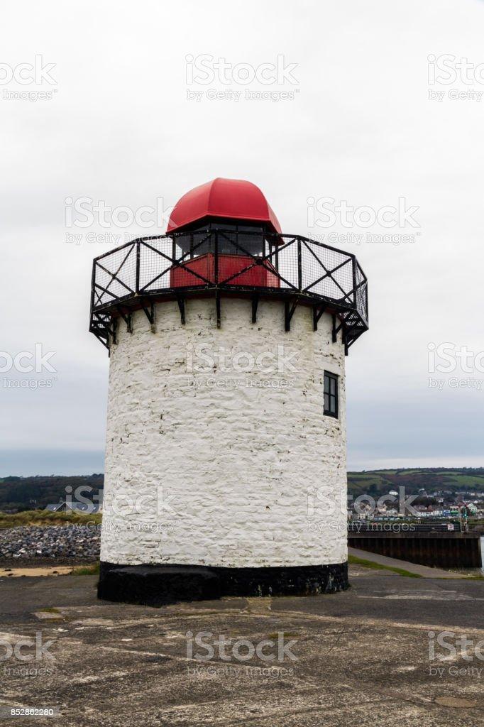 burry port lighthouse stock photo