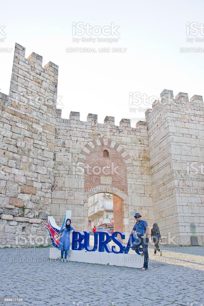 Bursa castle stock photo