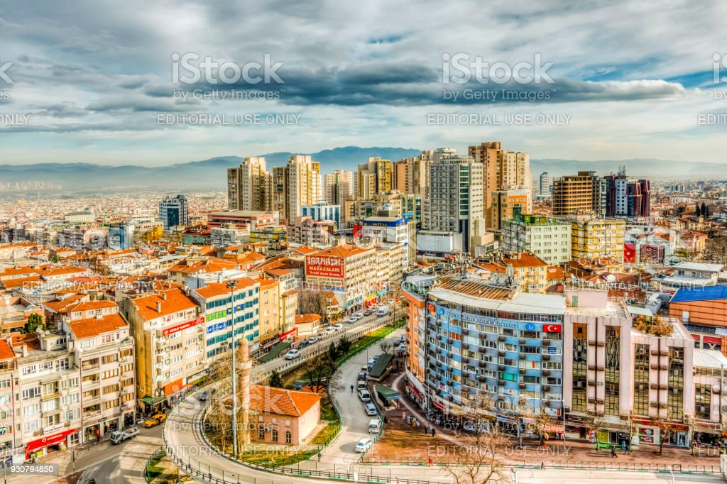 Bursa City in Turkey stock photo