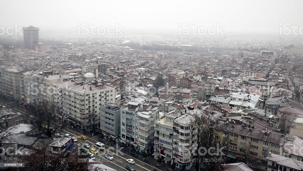 Bursa city view. stock photo