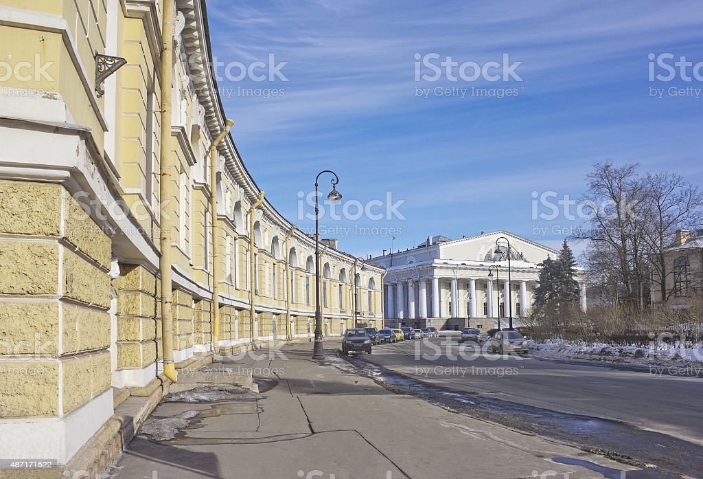 Burse in Saint Petersburg, Russia stock photo