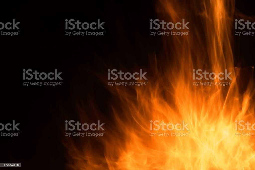 Burst of Flames royalty-free stock photo