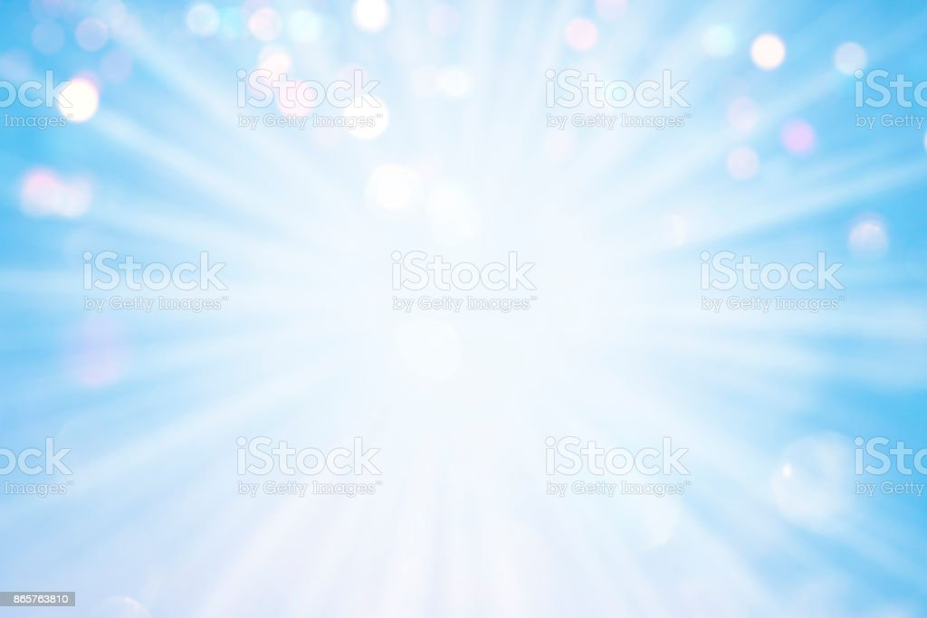 Burst of light with sparkles, Background for christmas stock photo