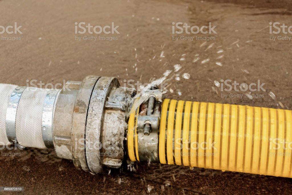 Burst pipe with water\'s leak. Beat. Money loosing.