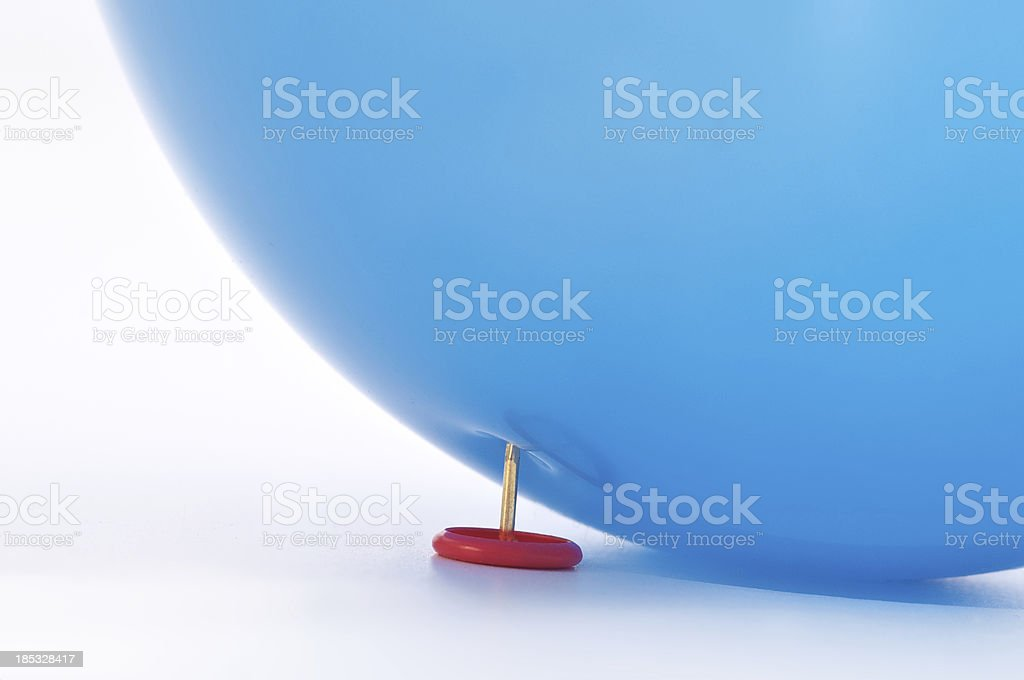 Burst your bubble stock photo