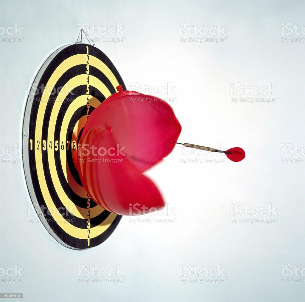 bursting balloon royalty free stockfoto