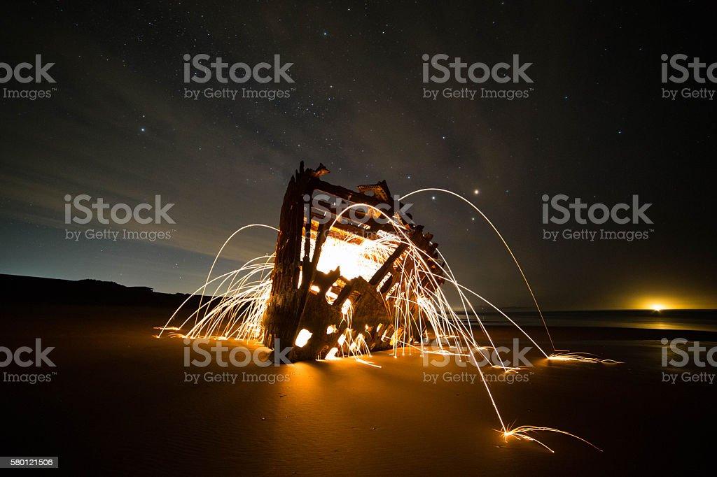 Bursting from Inside stock photo