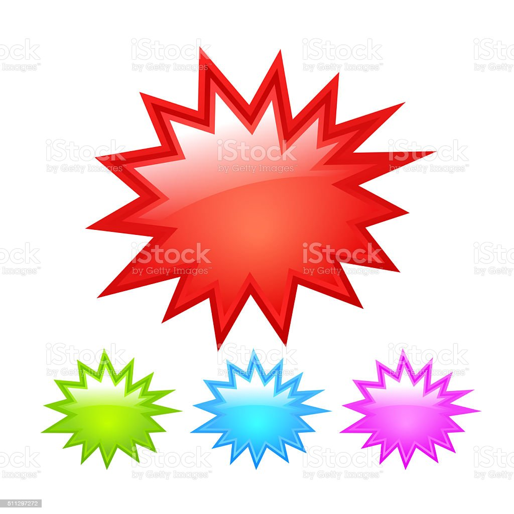 Bursting star icon stock photo