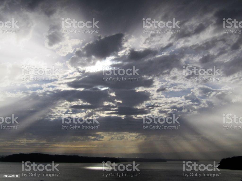 Güneş ışınları patlama royalty-free stock photo