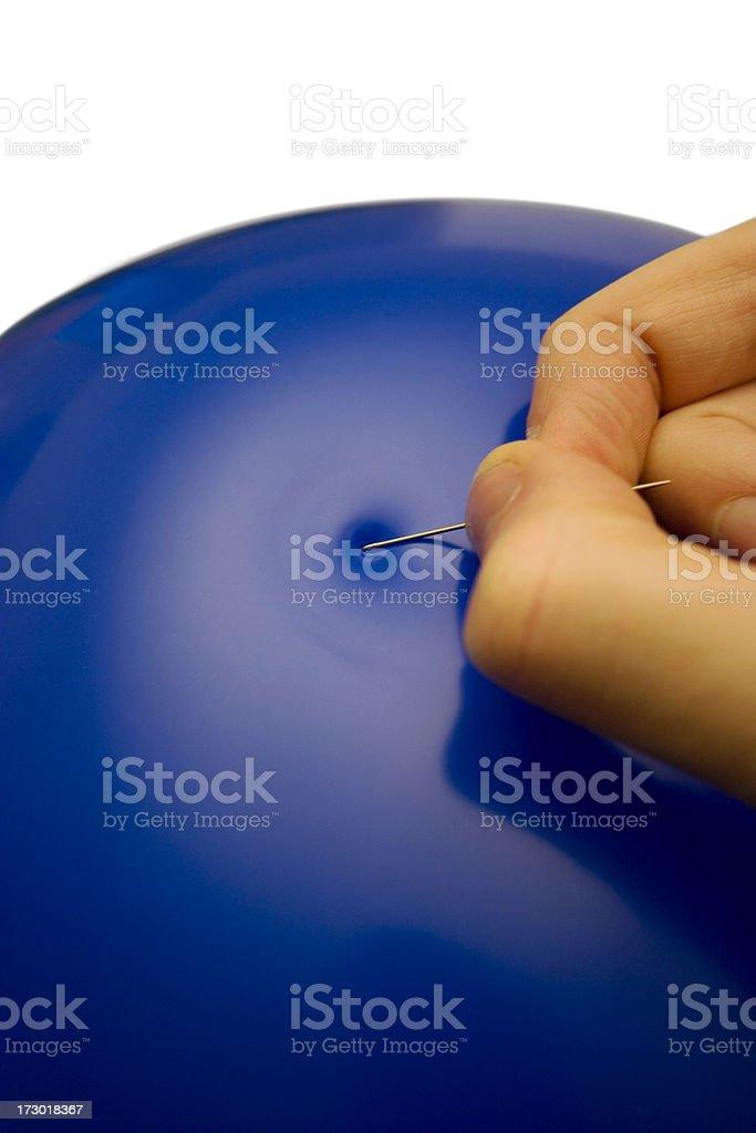 Bursting the bubble stock photo