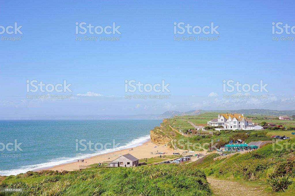 Burton Bradstock Beach View royalty-free stock photo