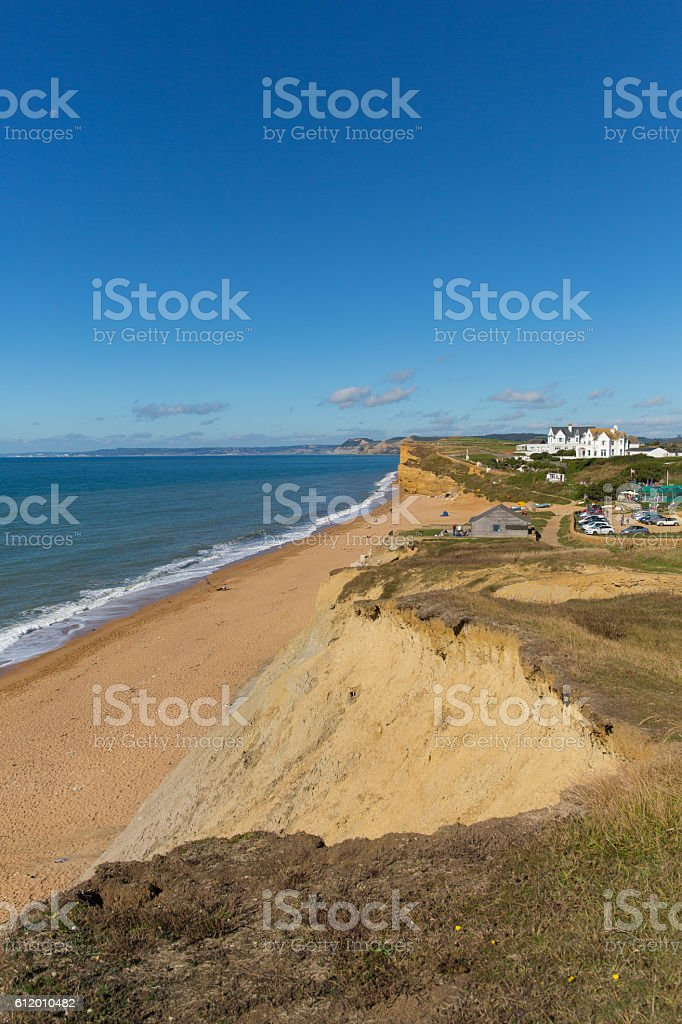 Burton Bradstock Dorset England uk beautiful jurassic coast in summer stock photo