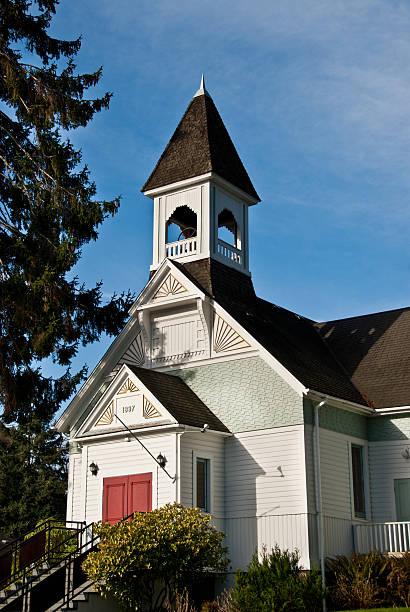 burton community church (1897) - jeff wood stock-fotos und bilder