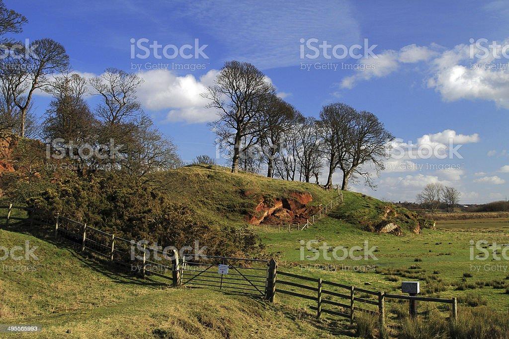 Burton Sandstone Outcrop stock photo