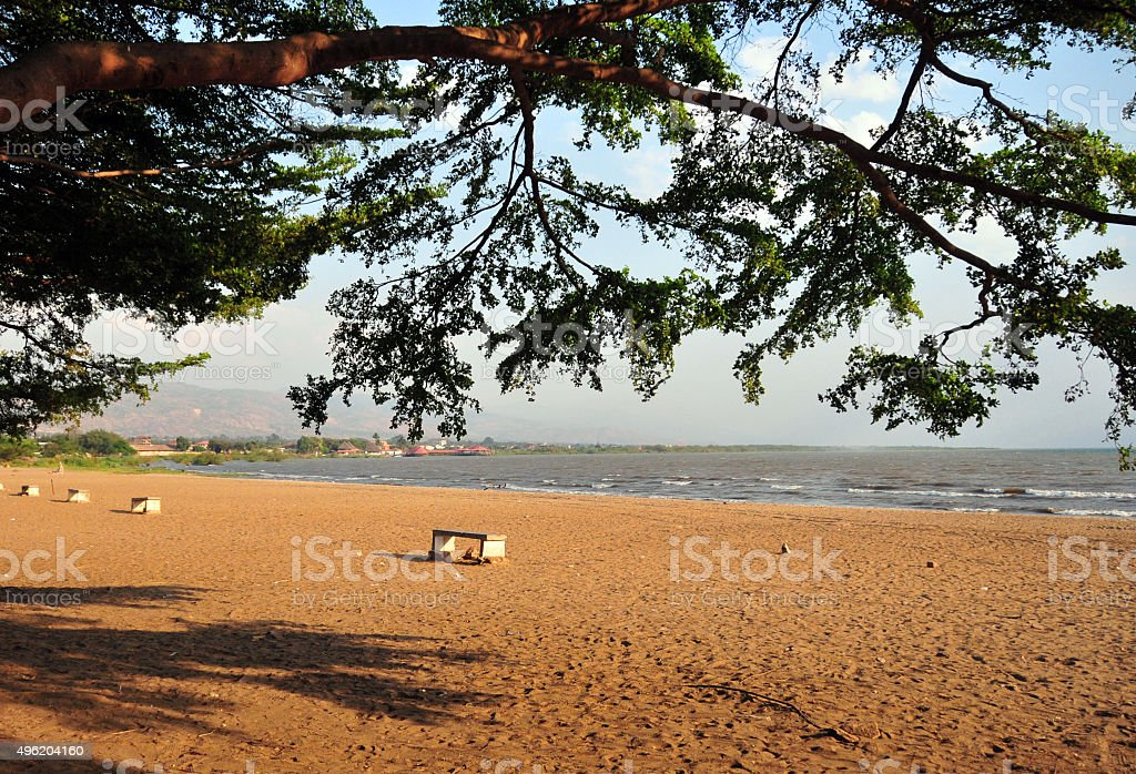 Burundi - beach in Bujumbura stock photo