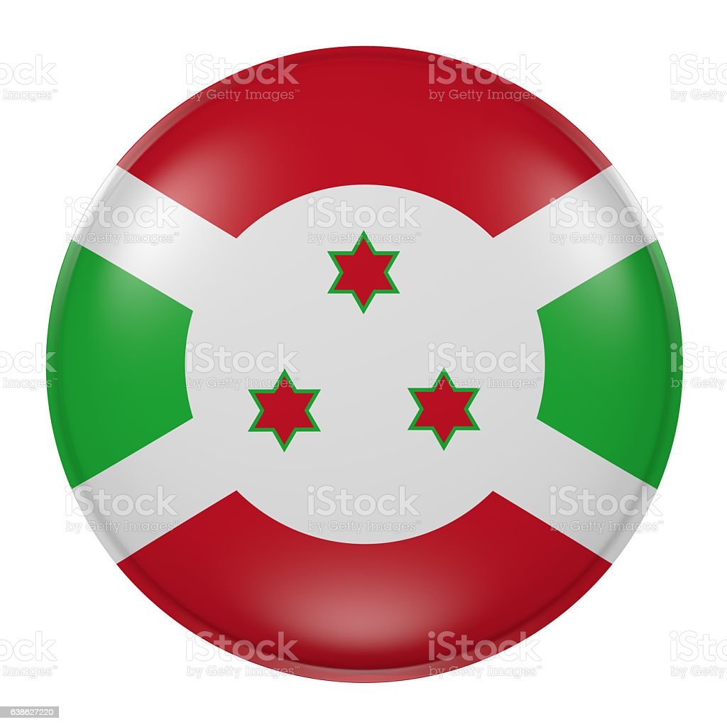 Burundi button on white background stock photo