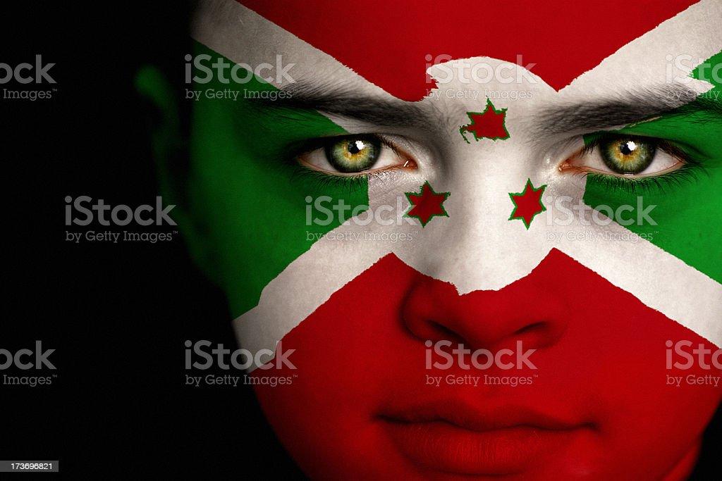 Burundi flag boy stock photo