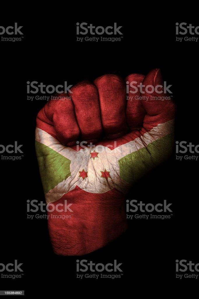 Burundi Flag Fist stock photo