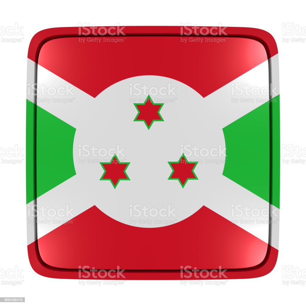 Burundi flag icon stock photo