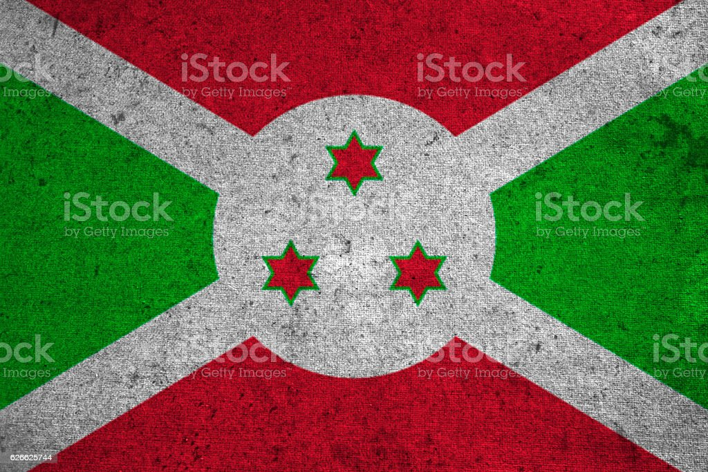 burundi flag on an old grunge background stock photo