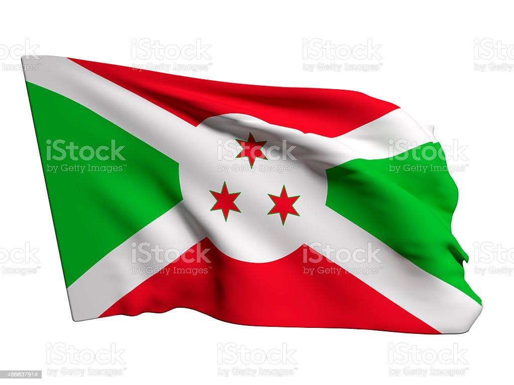 Burundi flag stock photo