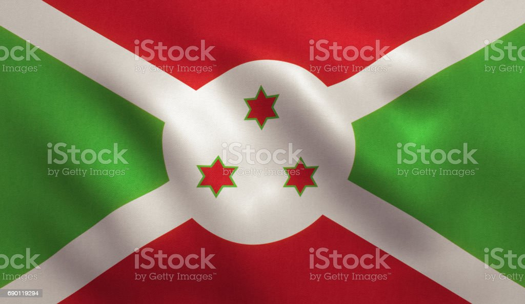 Burundi Flag stock photo