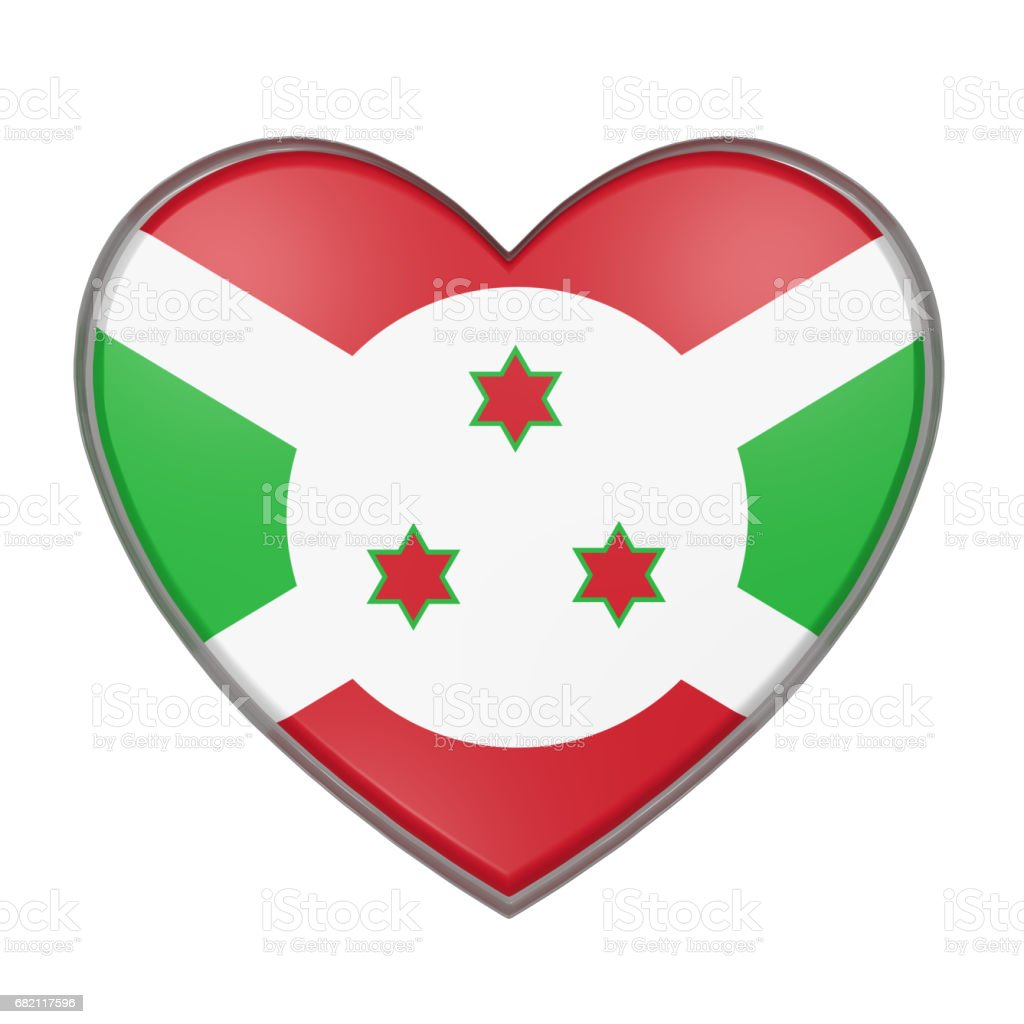 Burundi heart stock photo