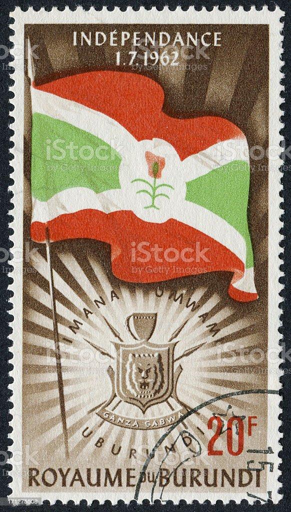 Burundi Independence Stamp royalty-free stock photo