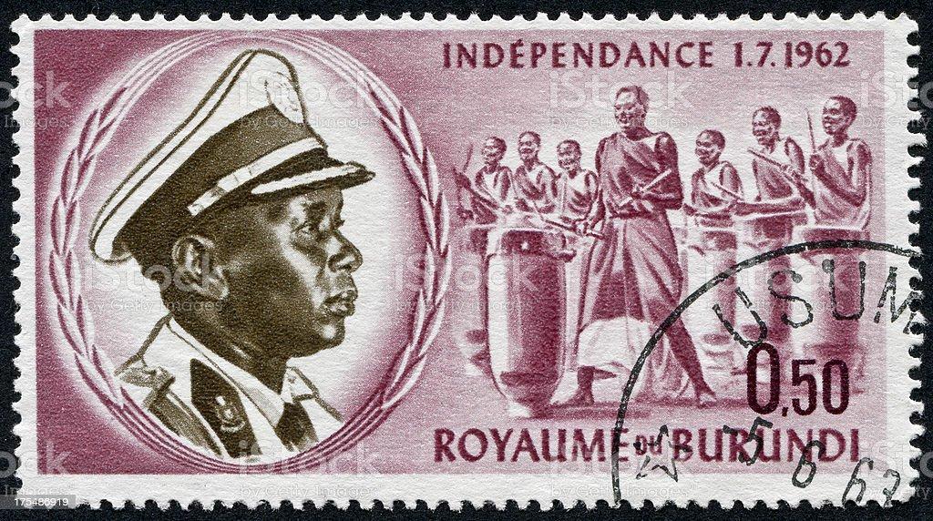 Burundi Independence Stamp stock photo