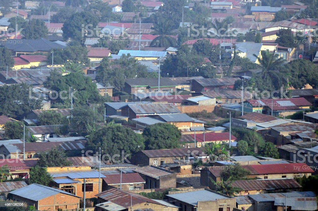 Burundi: roof tops of Bujumbura stock photo