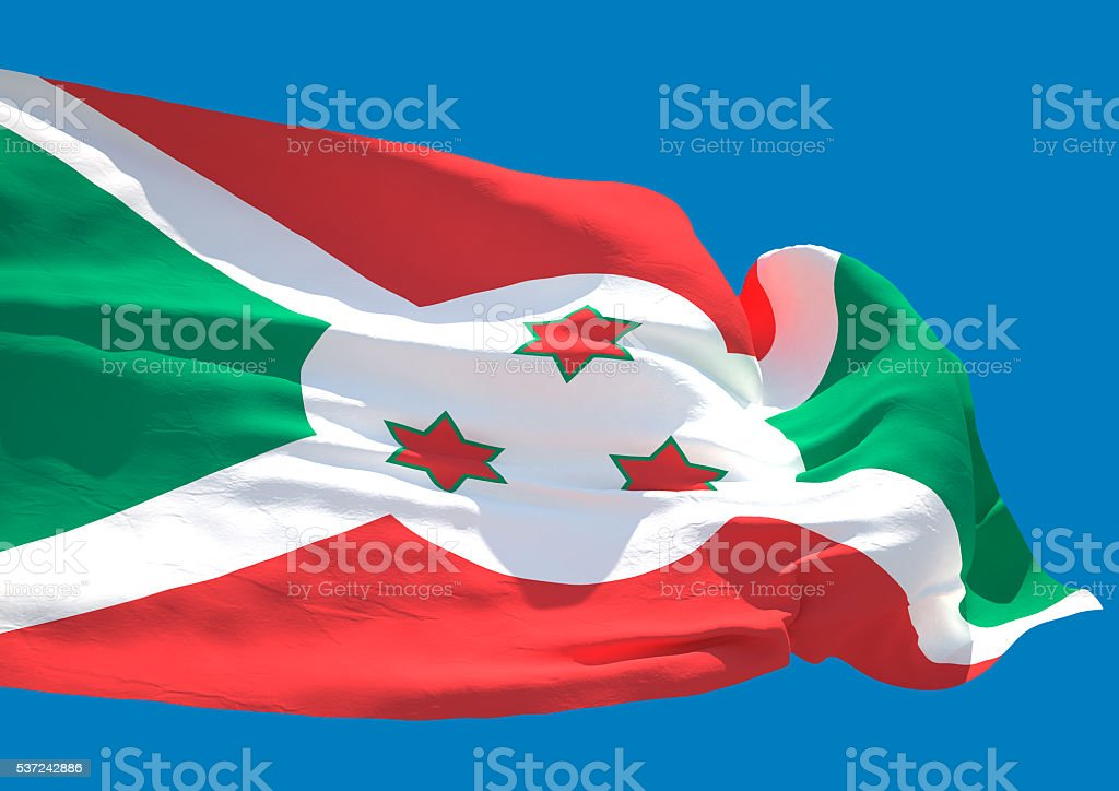 Burundi wave flag HD stock photo