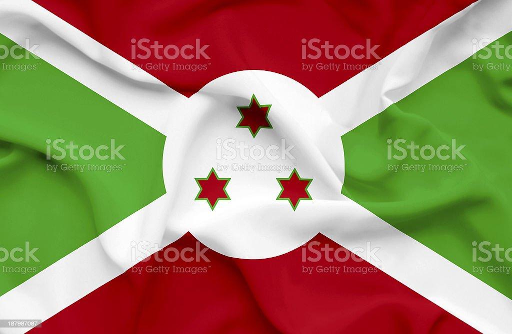 Burundi waving flag stock photo