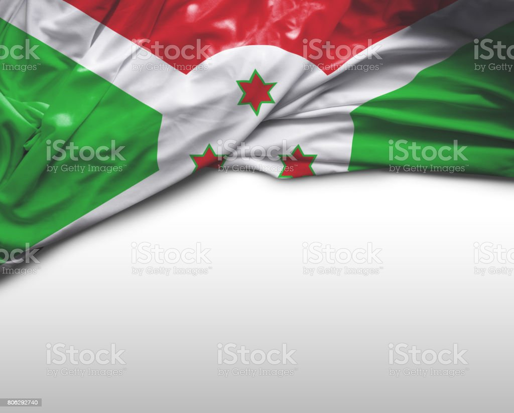 Burundi waving flag stock photo