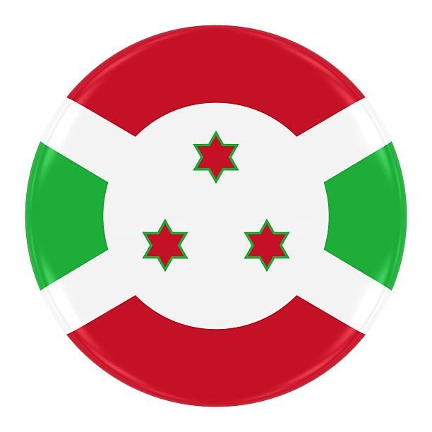Burundian Flag Badge stock photo