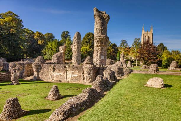 Bury St Edmunds Abbey and Cathedral, Cambridgeshire, England, UK stock photo