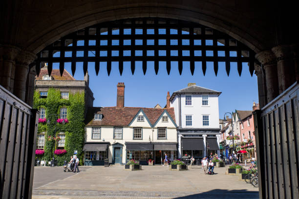 bury st. edmunds in suffolk, uk - ipswich town stock-fotos und bilder